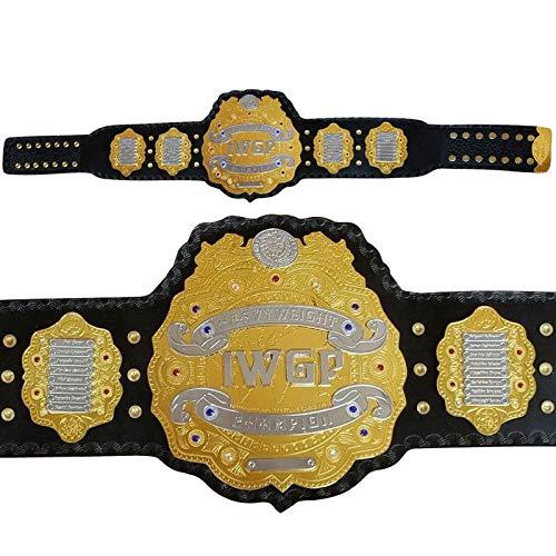 New Replica IWGP Champion Belt, Adult Size & Metal Plates