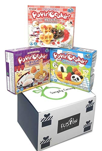 Popin' Cookin' DIY Candy Kit (3 Pack Variety) - Tanoshii Bento, Ramen and Waffle in Fusion Select Gift Box