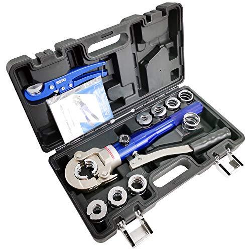 Aluminium Hydraulische Pex-rohr Crimpzange mit TH16,20,25,26,32mm&U16,20,25,32mm Drücken Sanitär Werkzeuge fürKompositrohr, PEX Rohr,Aluminium-Kunststoffrohr
