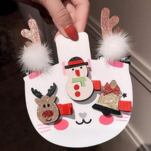 gao 5 Stks/Pakket Set van Kerstmis Haarspelden Voor Meisjes Mooie Kerst Jurk Haar Clip Haaraccessoires