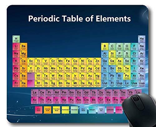 Tappetini per Il Mouse, tavola Periodica Colorata del Tappetino per Mouse degli Elementi, Tappetino per Mouse Grande in Gomma per scienze didattiche