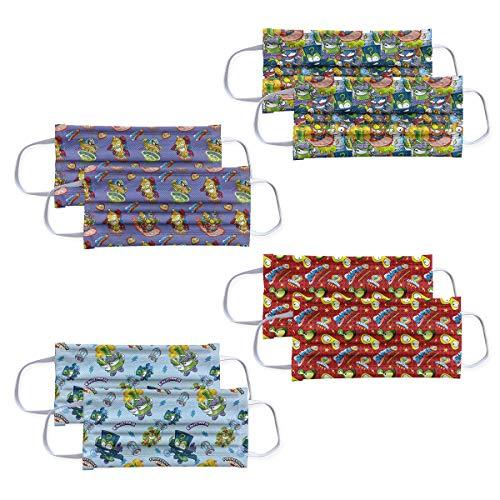 Mascarillas para niños Higienizantes Reutilizables con licencia - 10 lavados - Fabricadas en España (3-6 años, Superzings)