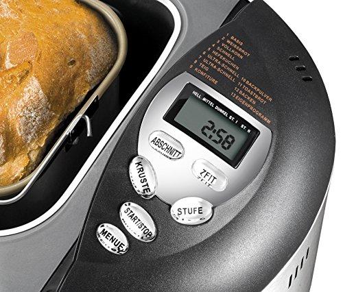 UNOLD Brotbackautomat Backmeister Onyx, 600 W, 1kg Brotgewicht, Keramik-Beschichtung, 8695 - 3
