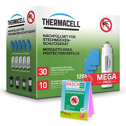 ThermaCell R-10 Nachfüllpack + Rasch Mückenpapier - Nachfüll-Mückenschutzset