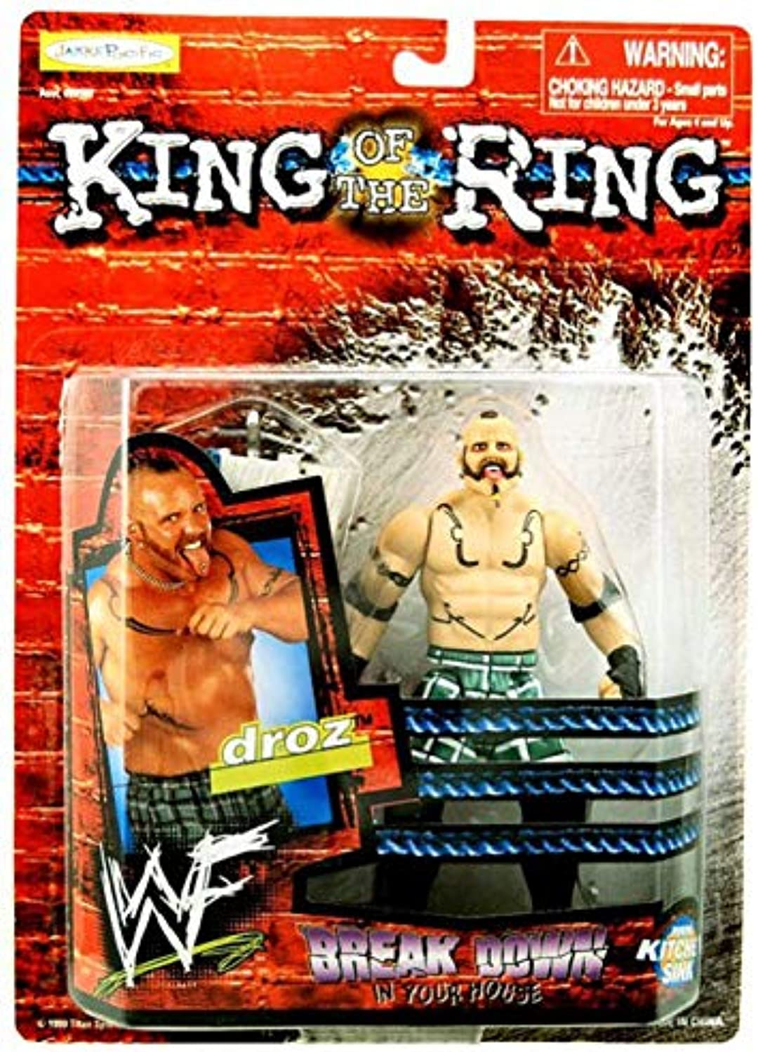 King of the Ring Break Down in Your House Droz Figurine by Jakks Pacific