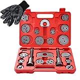 DASBET 22pcs Universal Disc Brake Caliper Piston Compressor Wind Back Repair Tool Kit for ...