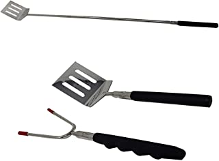 "aaco Telescopic Barbecue Spatula & Fork Set Mini Travel Set | up to 28"" Long can be Used for Smores Marshmallow Skewers Ho..."
