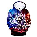 Anime 3D Printed Asta Yuno Cosplay Pullover Jacket Sweatshirt Hoodie Unisex Adult Costume Tops Coat Black 03 L