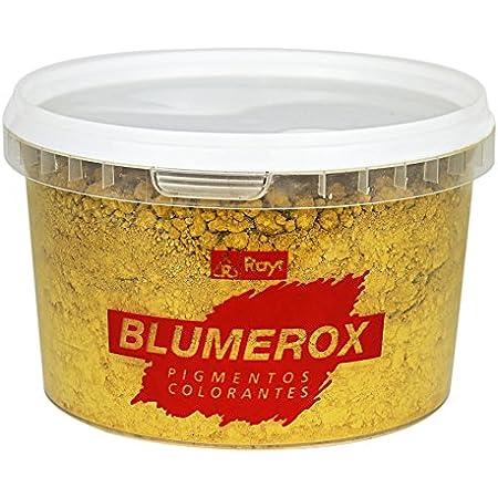 Rayt 1180-71 Blumerox Polvo para Interiores y Exteriores Cemento Blanco o Gris, Cal y Yeso. Altísimo Poder colorante. Pigmentos de Primera Calidad. ...