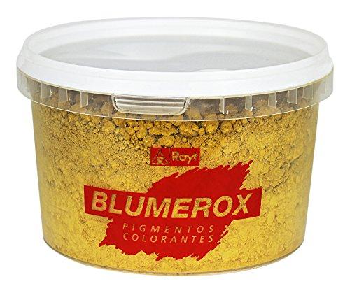 Rayt 1180-71 Blumerox Polvo para Interiores y Exteriores Cemento Blanco o Gris, Cal y Yeso. Altísimo Poder colorante. Pigmentos de Primera Calidad. Color Amarillo 02, 450gr