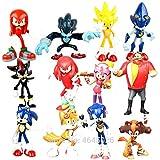 MIAOGOU Sonic Juguete Sonic Boom Tails Sticks Werehog Amy Rose PVC Figuras De Acción Dr. Eggman Knuckles Anime Figurines Muñecas Juguetes para Niños para Niños