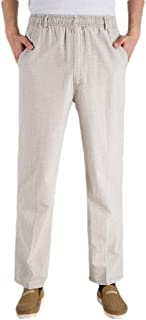 neveraway Mens Comfy Straight Leg Wide Leg Relaxed-Fit Thin Casual Trousers