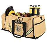 Innovatex 3XL Firefighter Duffle Bag, Tan - Large Storage Pockets for Turnout Gear, Store SCBA Masks, Gloves, Helmet, Jumpsuits and Rescue Gear - Quick Access Compartments