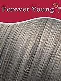 Extensiones de pelo humano 100% real, con clip, color gris, plateado, rubio hielo, 45,72 cm
