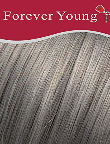 Extensions capillaires à clipser 100 % cheveux humains Remy Demi-tête Gris argenté 40,6 cm