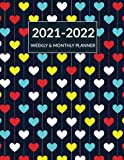 2021 2022 Weekly & Monthly Planner: Academic Planner Mid-Year July 2021 to June 2022 , Agenda Calendar Organizer, Cute Pretty Love Hearts Cover