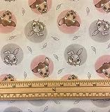Quilt-Stoff mit Disney-Bambi und Klopfer in Kreisen, 100 %