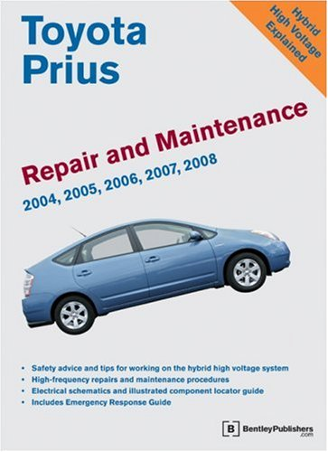 Toyota Prius Repair and Maintenance Manual: Model and Engine Coverage: 2004-2008 Prius NHW20. INZ-FXE Engine. Simple, Clear, Detailed Maintenance and Repair Information
