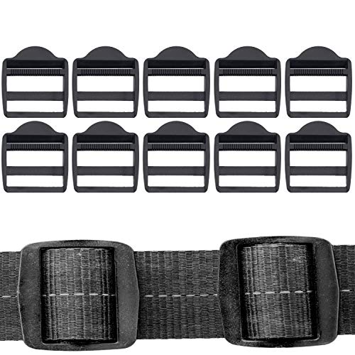 10 hebillas de sujeción de plástico duro para mochila, correas de repuesto de 15, 20, 25, 32, 38 y 50 mm