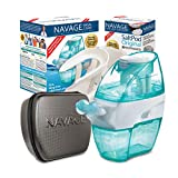 Navage Nasal Care Deluxe Bundle: Navge Nose Cleaner, 50 SaltPod Capsules, Countertop Caddy, and Travel Case. 164.85 if Purchased Separately. You Save 49.90 (Black). for Improved Nasal Hygiene