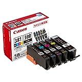 Canon 純正 インクカートリッジ BCI-381(BK/C/M/Y) 380 5色マルチパック 小容量タイプ BCI-381 380s/5MP