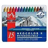Caran d'Ache Classic Neocolor II Water-Soluble Pastels, 15 Colors