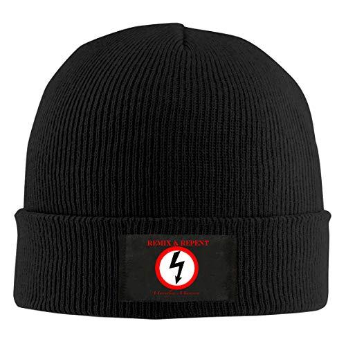 Marilyn Manson Mens Knitted Hat Winter Classic Beanie Skull Cap Black