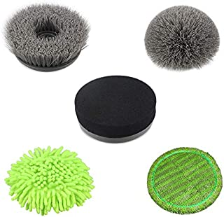 NPOLE 5 replaceable brush heads, easy to disassemble and clean. Uses: kitchen, corner, floor, ceiling, car polishing and waxing, Can go to any small place, no need to worry about mopping the floor