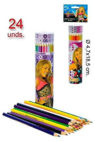 Artesania Cerda - Set de 24 Crayons de Couleurs Hannah Montana