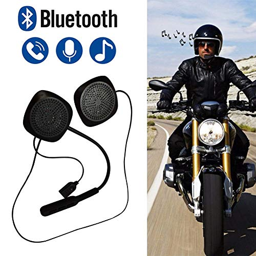 docooler Cuffie Wireless BT Moto interfono Casco Auricolare Musica Vivavoce con Microfono HD in-Line Controllo per Motociclisti