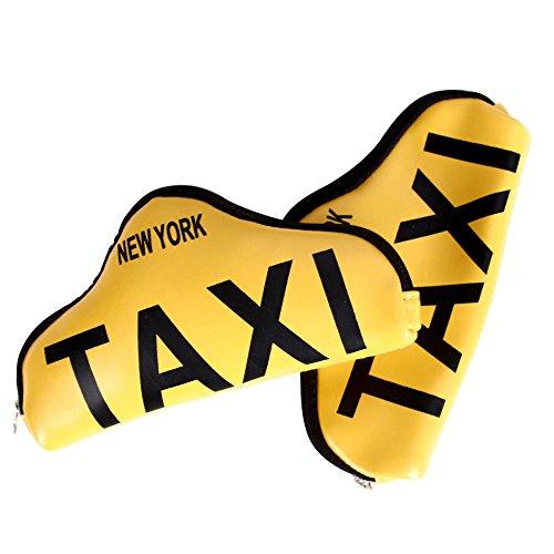 Helio Ferretti Hf portemonnee in de vorm van taxi, PVC en katoen, wit, 18 x 10 x 4 cm