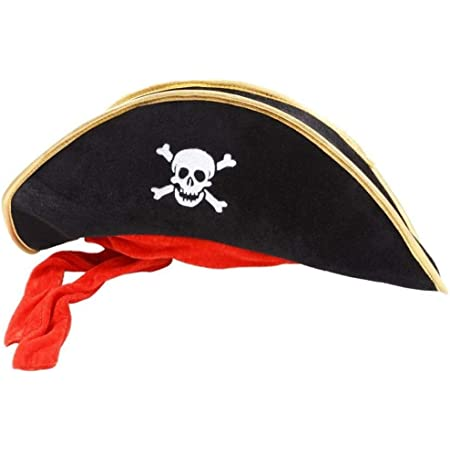 Wicked Costumes Pirate Hat Black Outfit Accessory for Caribbean Fancy Dres