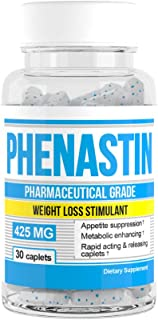 Phenastin - Diet Pills Extra Strength Weight Loss Aid Formulated for Men and Women (30 caplets)