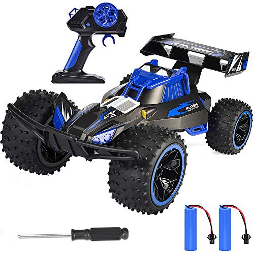 NQD RC Car for Kids Remote Control Car Tracked Vehicle 360°Spin 2.4GHz 4WD Dual Motors Rechargeable Electric RC Toy Car Blue