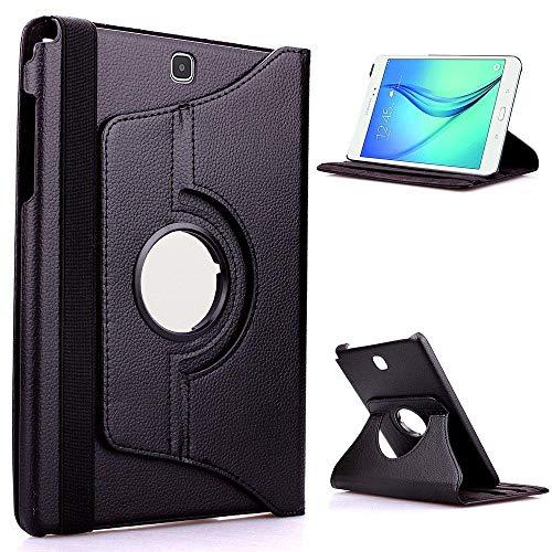 PU Ledertasche für Samsung Galaxy Tab S 8.4 Hülle für SM-T700 SM-T705 SM-T705C 8,4 Zoll Tablet 360 Grad drehbare Hülle-Schwarz