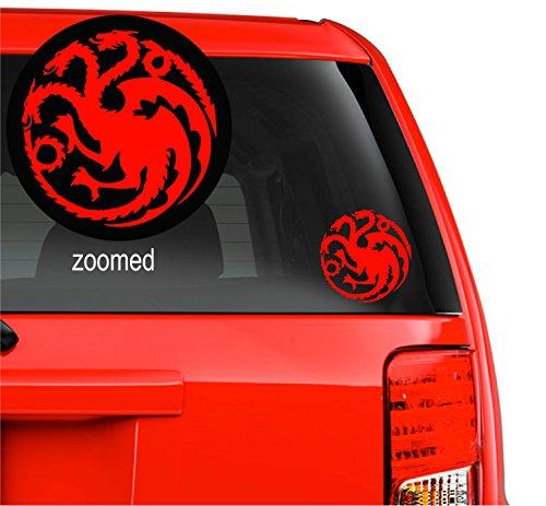 Game of Thrones House Targaryen Logo Redkalesi Sigil Vinyl Sticker Decal HBO Logo Car Truck Mac (5.5  Inches, Red)