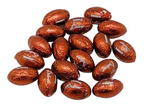 Chocolate Covered Footballs - 2 Lbs Individually Wrapped Milk Chocolate Balls (approx 160 pieces) - American Football Shaped Candy - Bulk Filler Candy for Parties