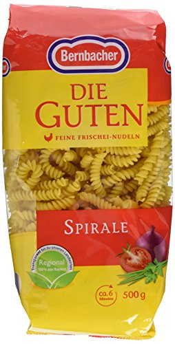 Bernbacher Eiernudeln Die Guten - Spirale, 5er Pack (5 x 500 g)