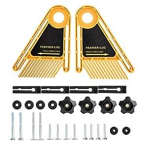 Tablero de plumas doble de plástico Stronerliou para cortadora, enrutador, sierra de mesa, accesorios para carpintería