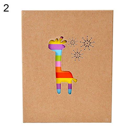 100 pages Animal coloré Famille Album photo support de rangement pour bébé Décor