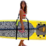 SUP-Now Paddle Board Carrier/Storage Sling 9 ADJUSTS MORE THAN OTHER STRAPS: Works great for paddleboarders of all heights and fits all paddleboards. Whether you are 6'5 with a large paddleboard or you are 4'3 with a small surfboard, our strap will work for you! TRIPLE PADDED SHOULDER PAD: Our shoulder pad is made from soft and durable NEOPRENE for maximum comfort. The idea of these straps is to carry the weight of your board on your shoulder. We put a lot of time and effort making our shoulder pad FAR SUPERIOR to others on the market. REMOVABLE DRAWSTRING BAG: Carry your water bottle, sunscreen or other personal items.
