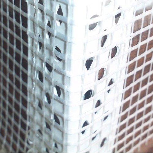 100 Stab Gewebeeckwinkel, PVC Eckwinkel mit 10cm x 15cm Gewebe je 2m Fassade