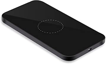 LanXin Aluminum Qi Wireless Charging Pad Stand for iPhone 8/8 Plus/X, Samsung Galaxy Note 8, S8, S8 Plus, S7, S7 Edge, S6 Edge Plus and All Qi-Enabled Devices (Rectangle - Black)