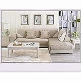 TT&CC Broderie Couch Couvre,Hiver Mode Peluche épais Anti-dérapant Housse Divan/Canapé Serviette Protecteur Canapé Housses pour Canapé en Cuir-E 45x45cm(18x18inch)