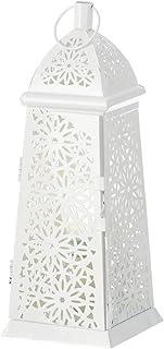 Lámpara de sobremesa árabe blanca de metal para la entrada Arabia - LOLAhome