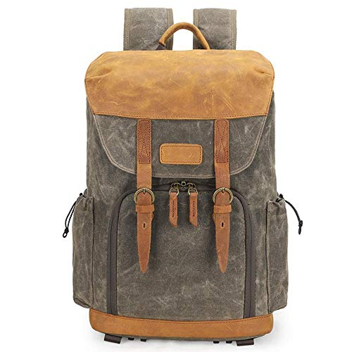 Camera Rugzak Cross-Border Waterdichte Canvas Bag Lens Bag Outdoor Slr Liner Schouder Camera Tas, 军绿色