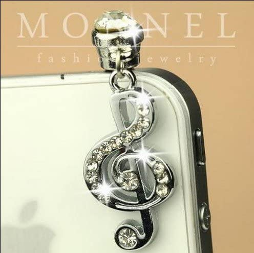 ip262-B Cheap SALE Start Luxury Sales Crystal Music Note Anti for Dust Cover Plug Charm