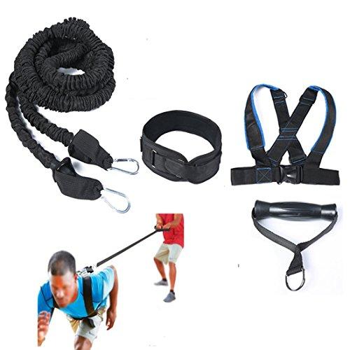 HemeraPhit Speed Training Gürtel Geschirr Widerstand Band Taille Gürtel Agility Training Weste Set