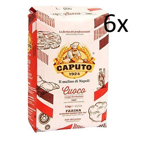 6x Farina Molino Caputo Cuoco chief Pizza Napoli Pizzamehl Pizza Mehl 1kg