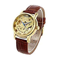QTMIAO 美しいドレスウォッチ時計 自動ドラゴンパターン機械式中空ベルト機械式時計 (Color : 3)